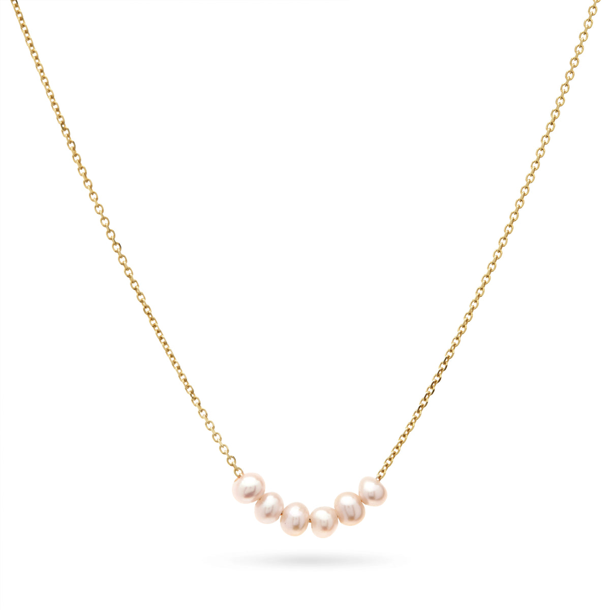 Pearl Smile Necklace in Yellow Gold