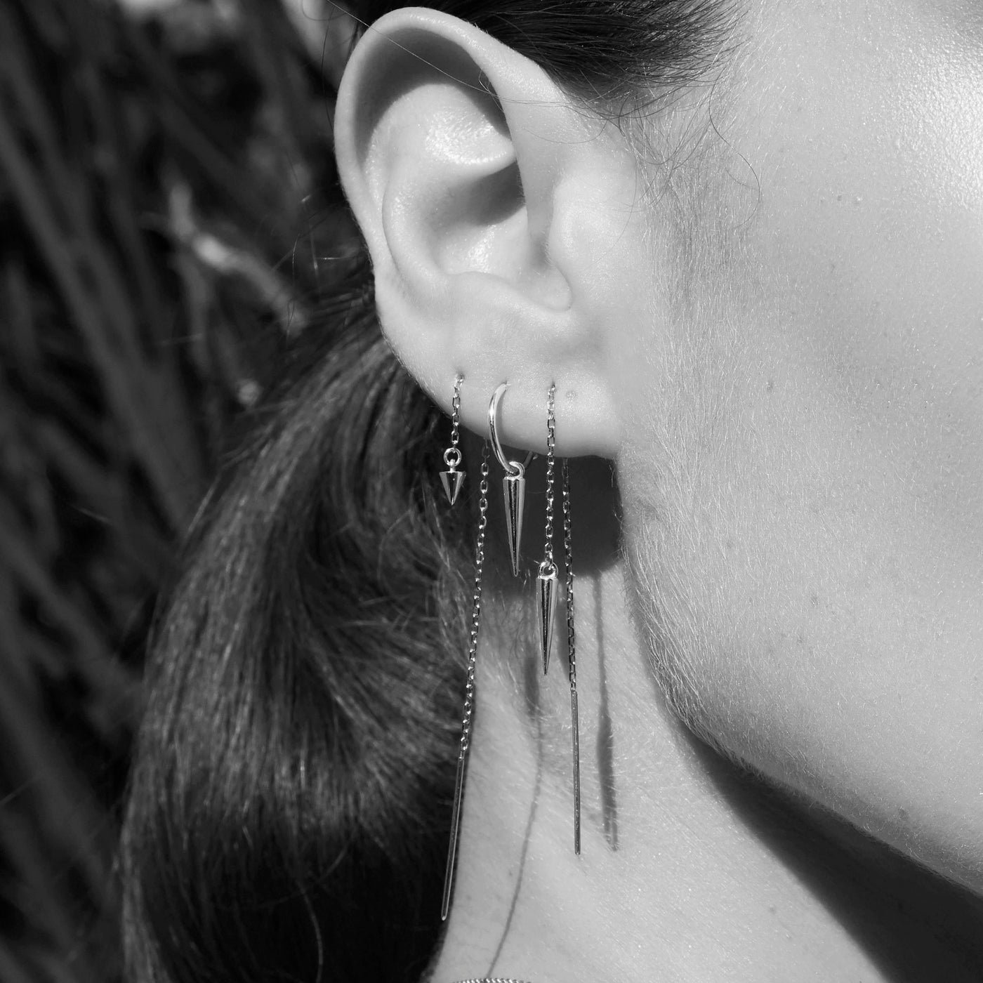 Pendulum Spike Sleeper Earrings