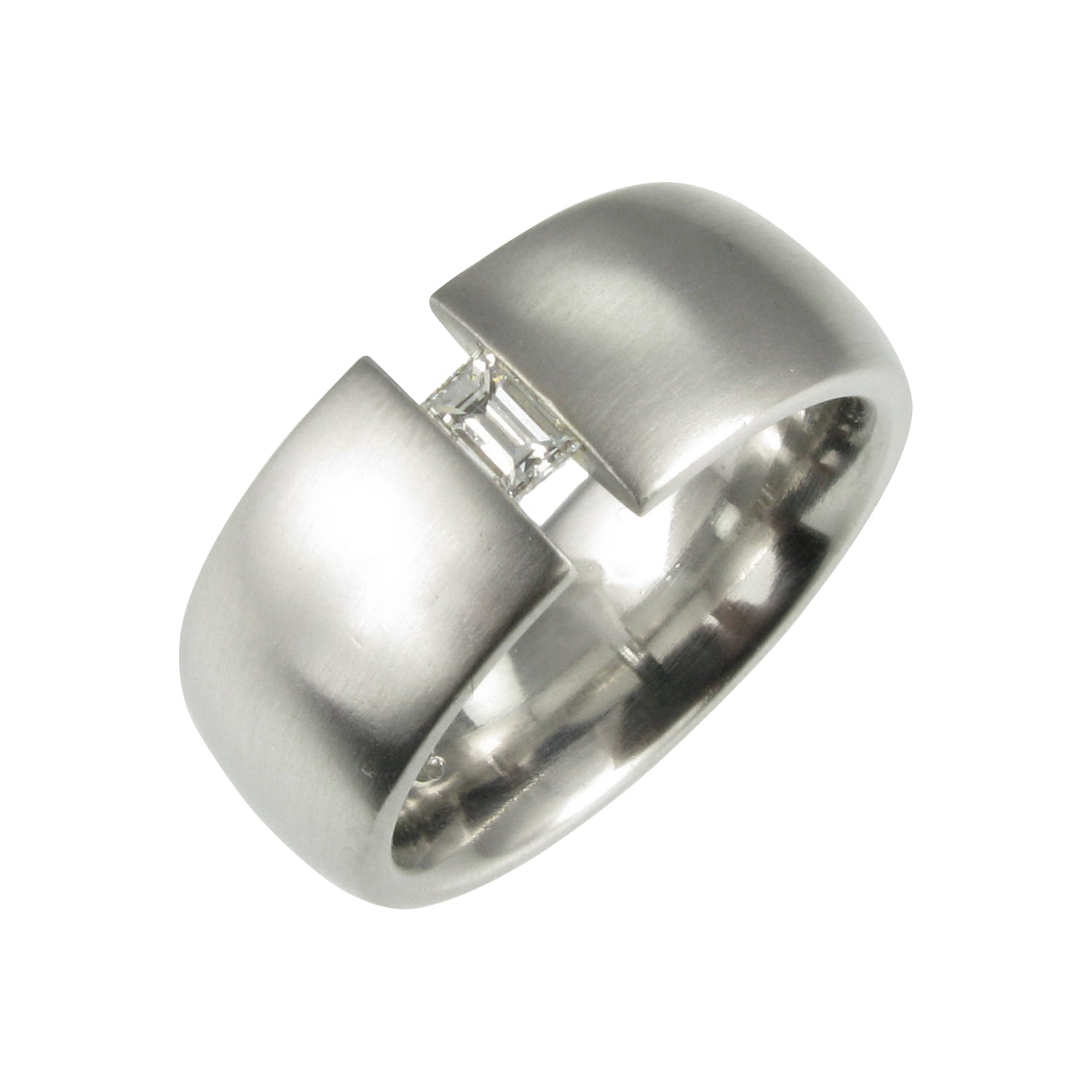 Gents Tension Set Wedding Ring.