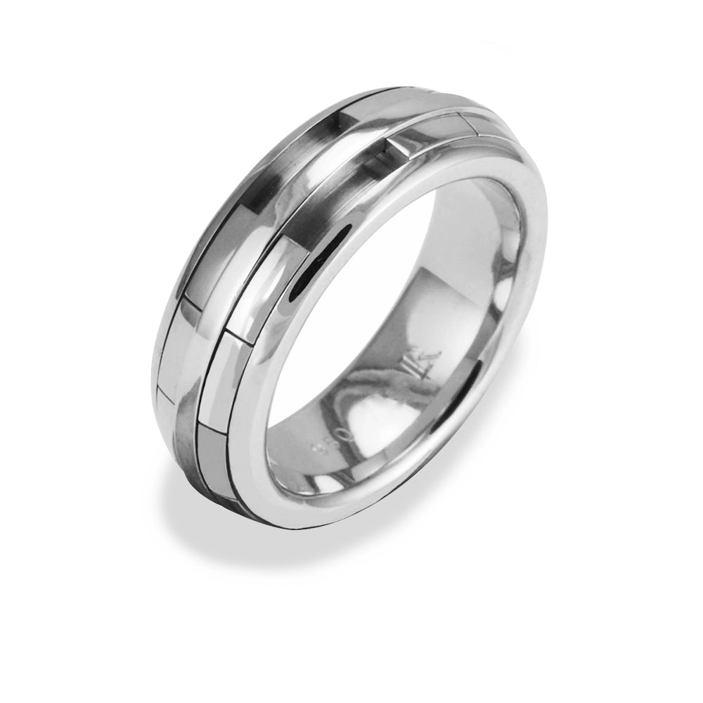 Ladies REVOLVER Ring in Platinum