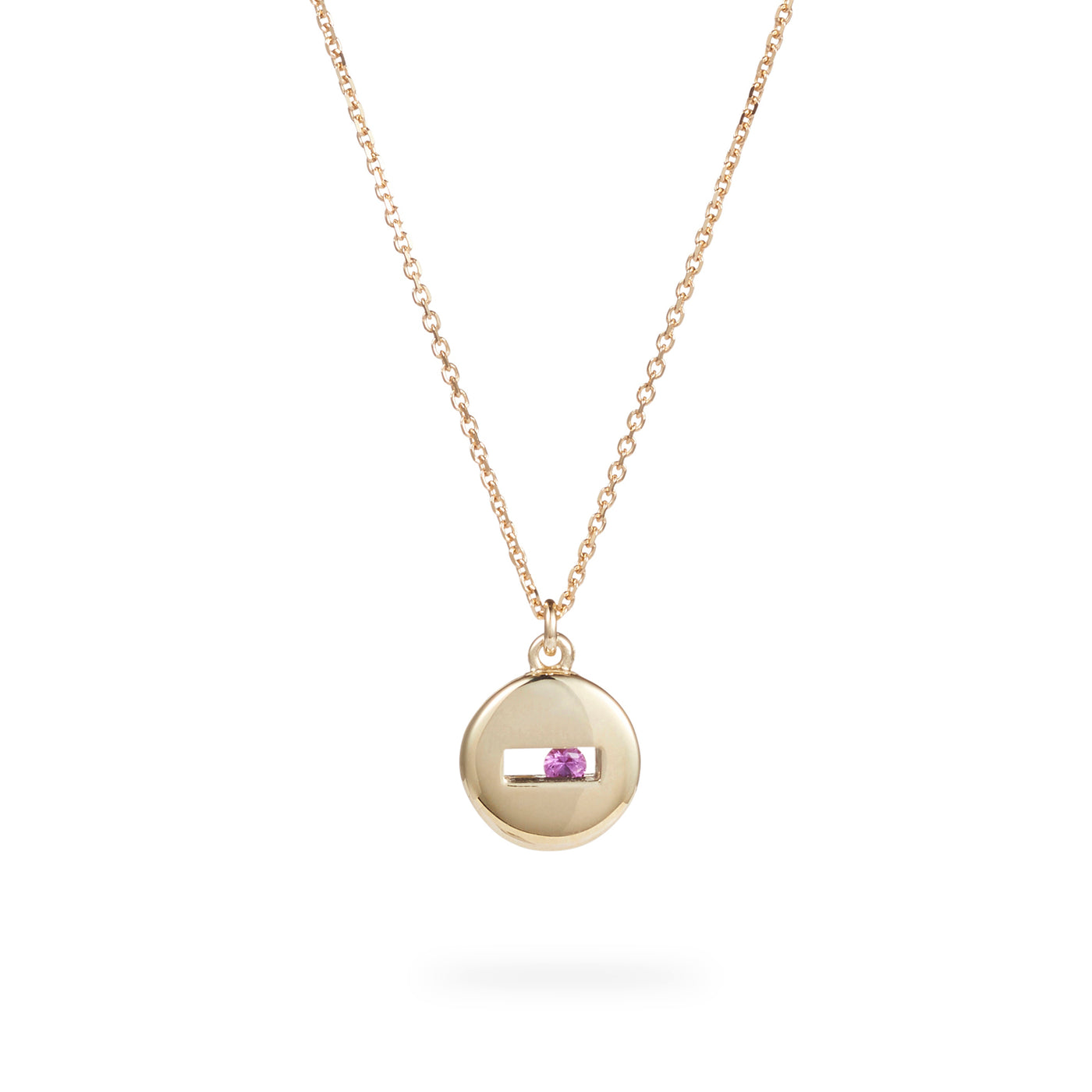 Luke Rose Jewellery yellow gold rolling rock necklace