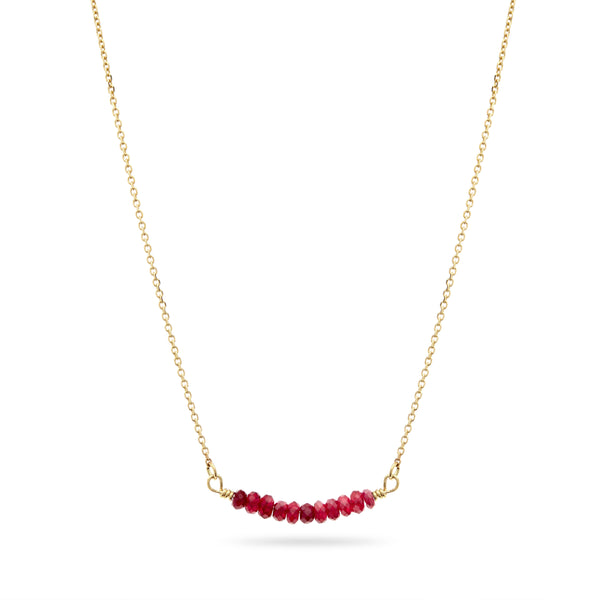 Gold and Ruby Necklace by Luke Rose