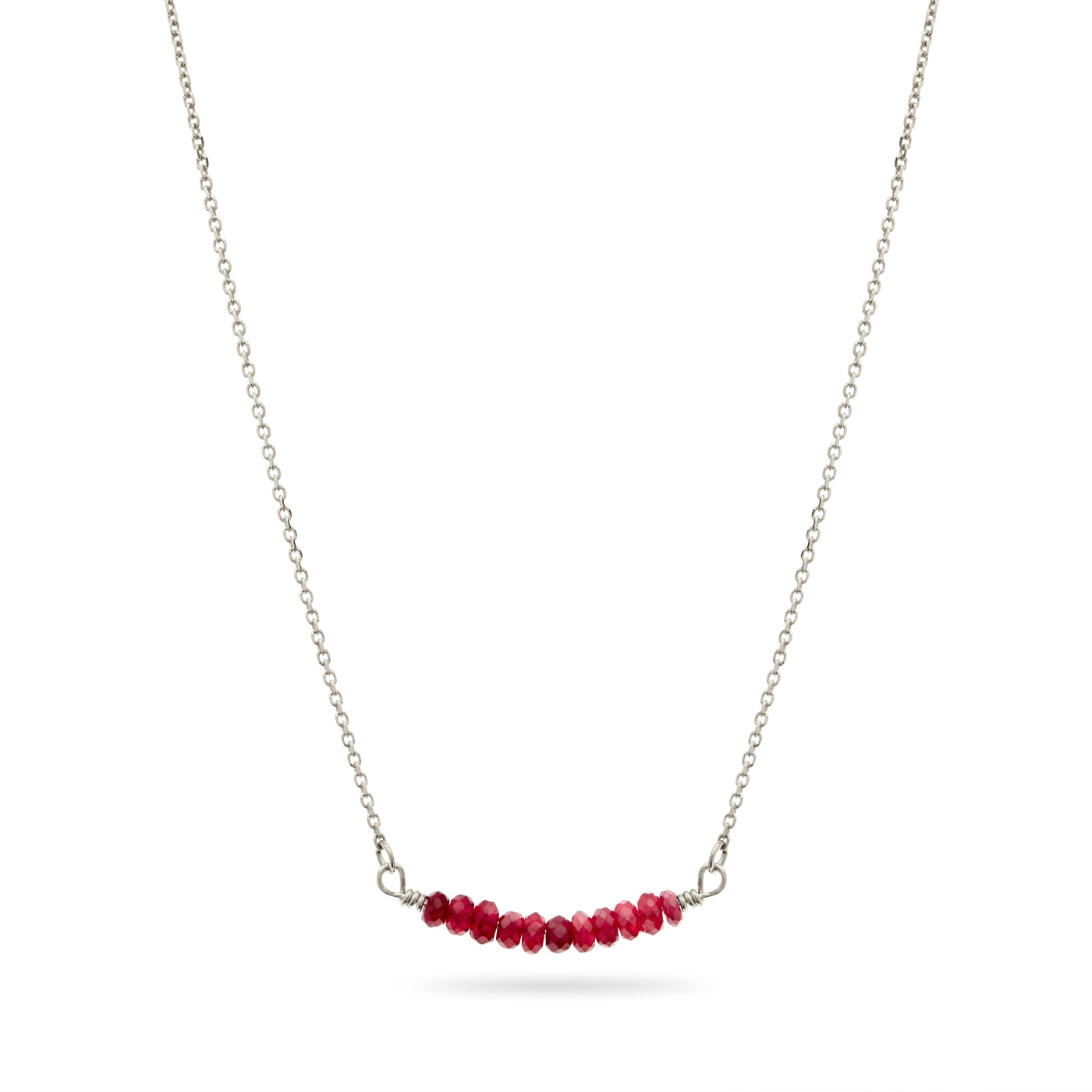 Silver Ruby Necklace by Luke Rose
