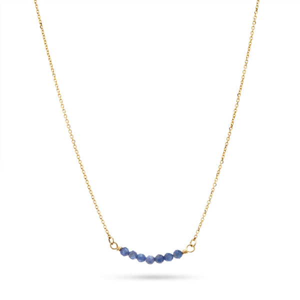 Gold Sapphire Necklace by Luke Rose