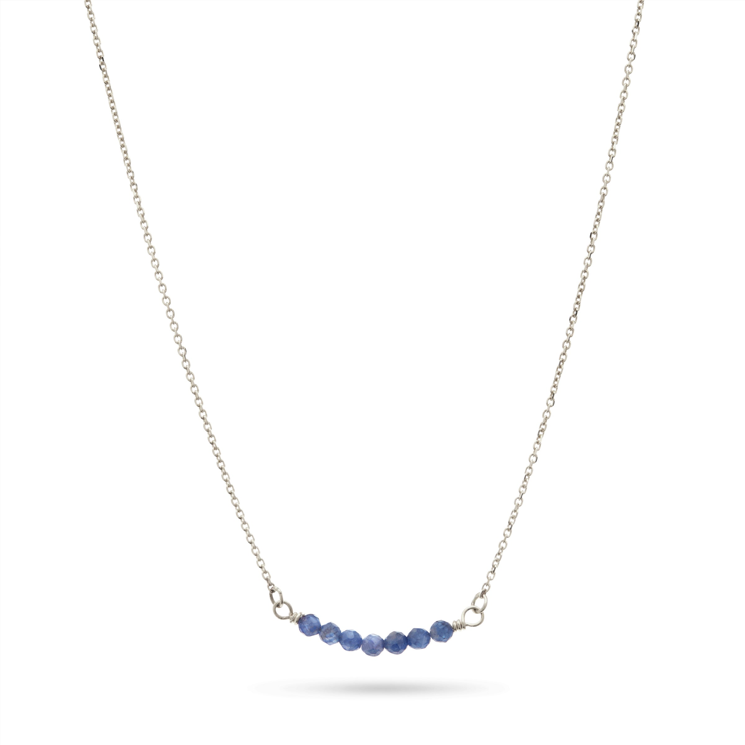 Silver Sapphire Necklace by Luke Rose