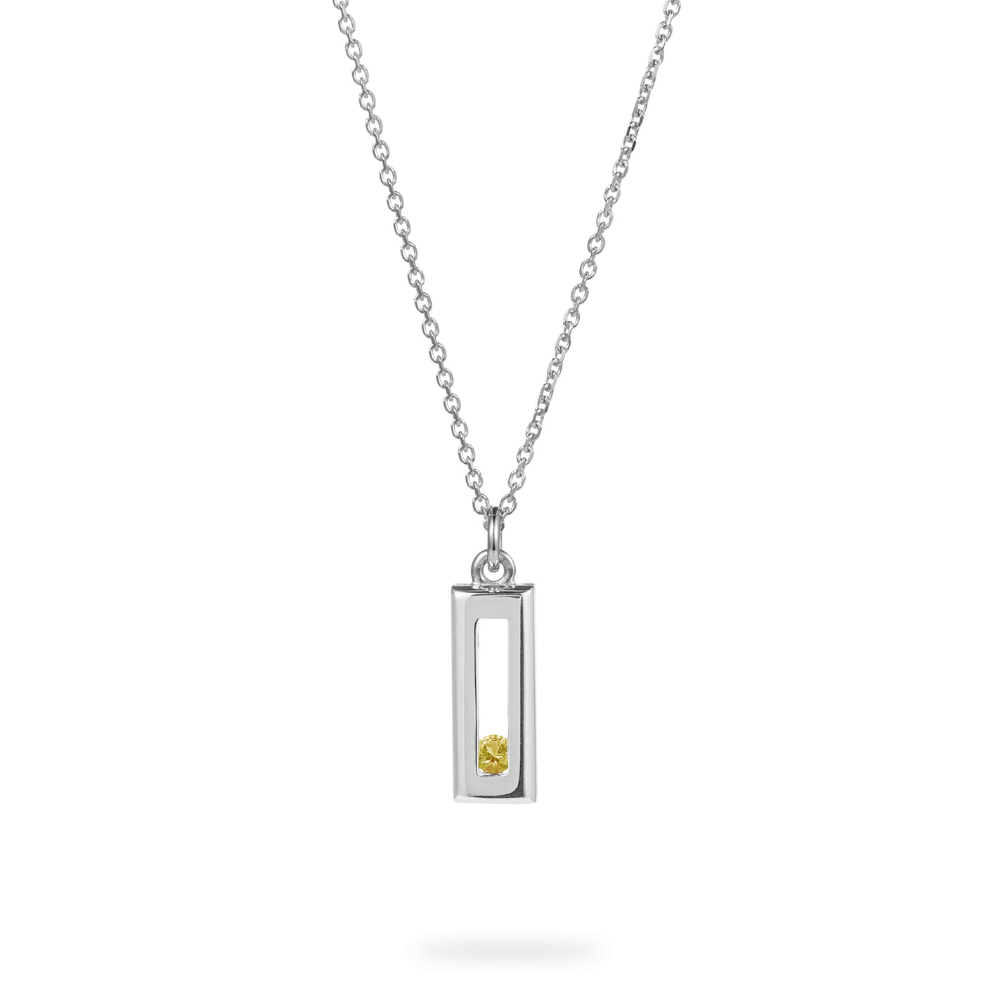 Luke Rose Jewellery Silver Sliding Rock Necklace