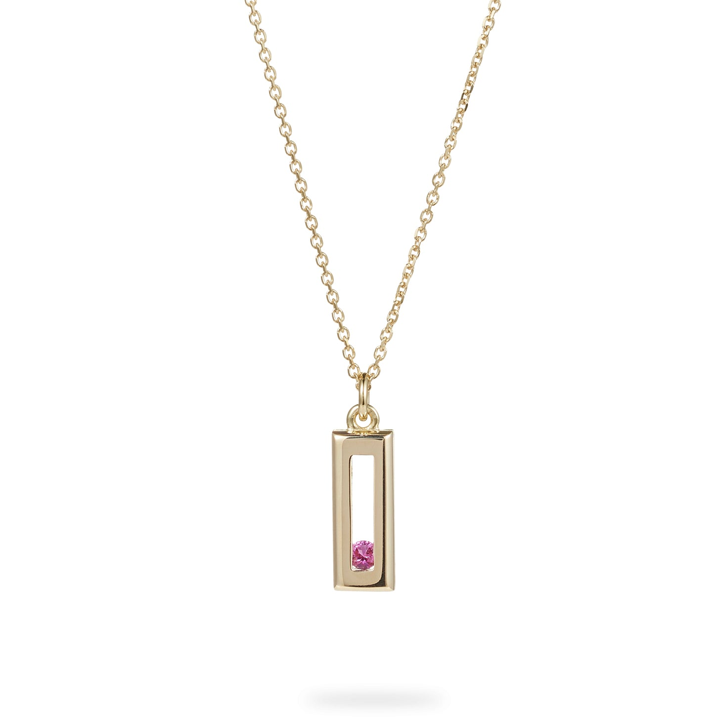 Luke Rose Jewellery Sliding Rock Gold Necklace