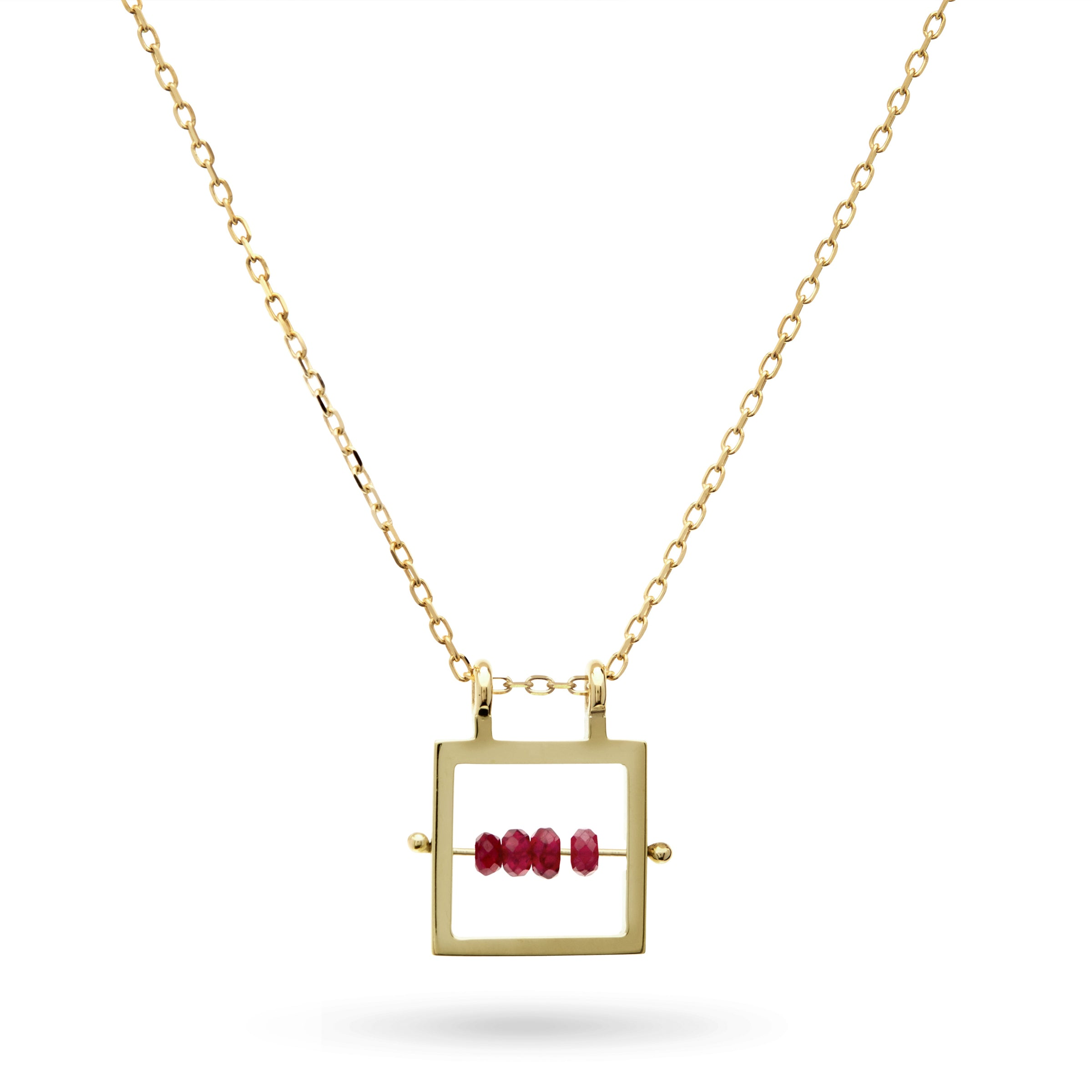 Ruby Necklace in Gold