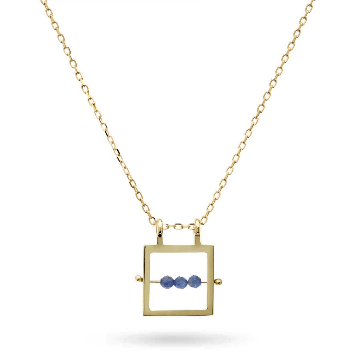 Square Sapphire Abacus Necklace