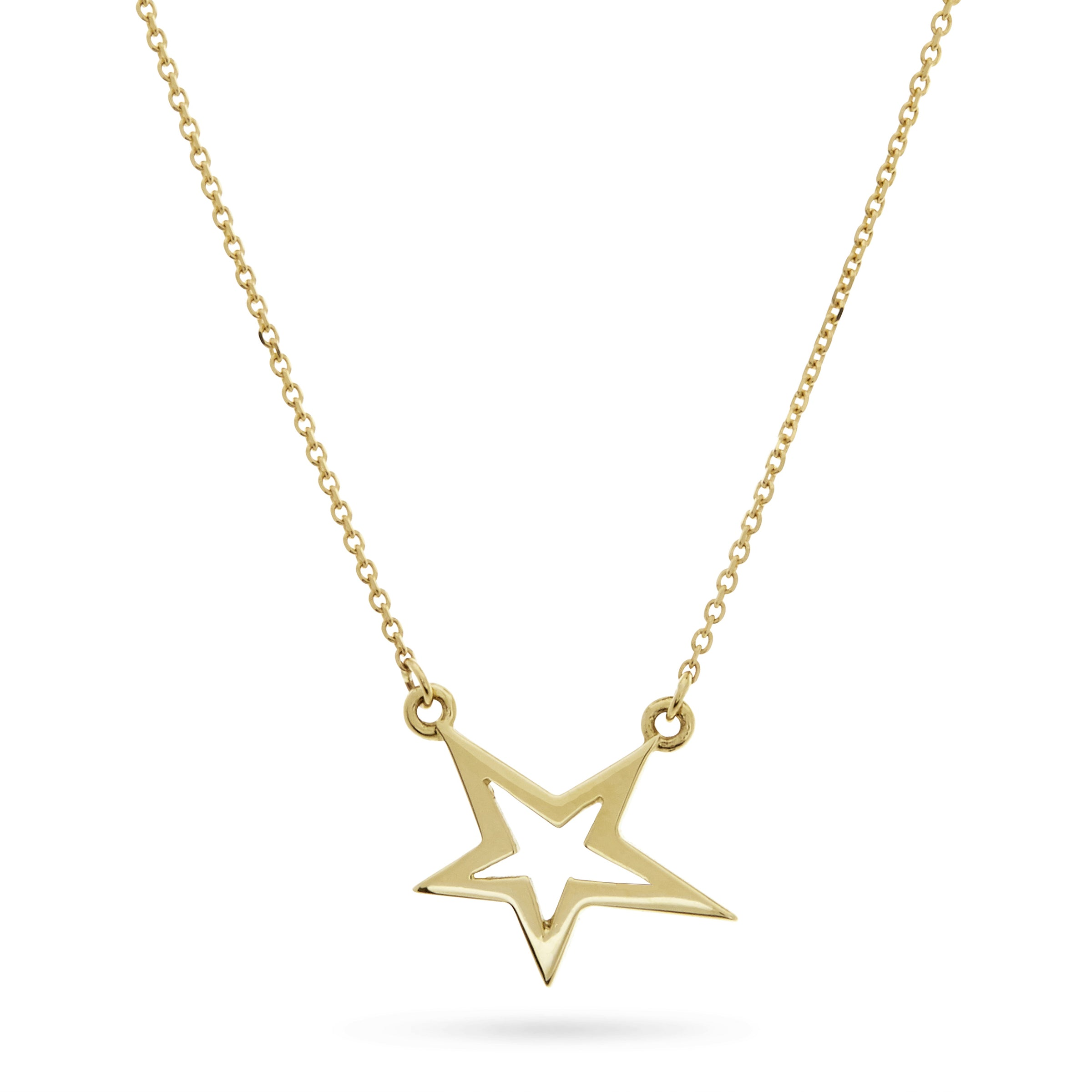 Lucky Star Necklace in Solid Gold