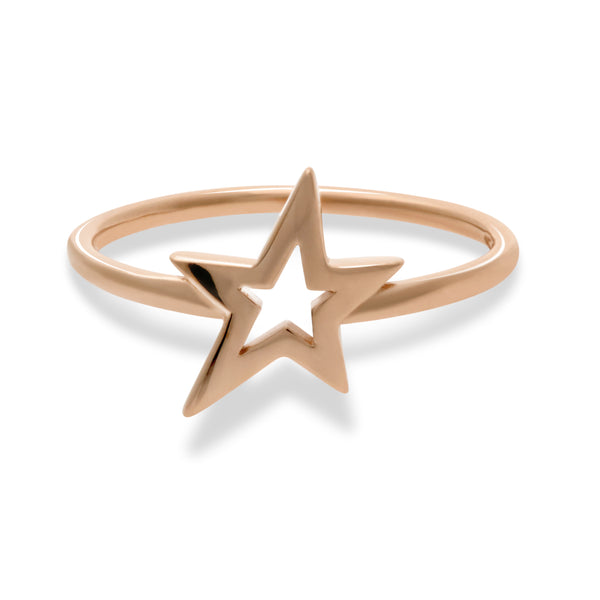 Lucky Star Ring in Rose Gold
