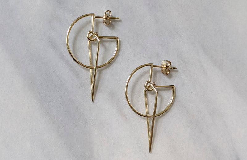 Sundial Hoop Earrings