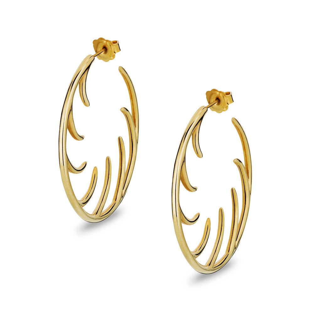 BLINK Big Full Lashes Hoop Earrings Gold