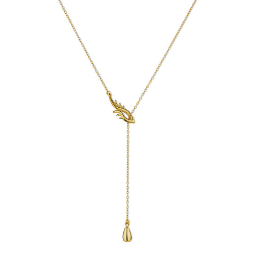 BLINK Bright Eye Lariat Necklace Gold