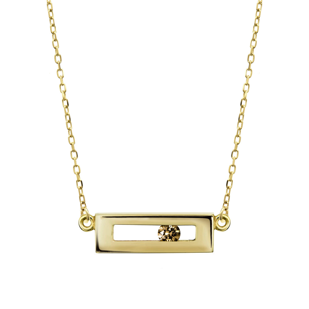 Champagne Slide Necklace Yellow Gold