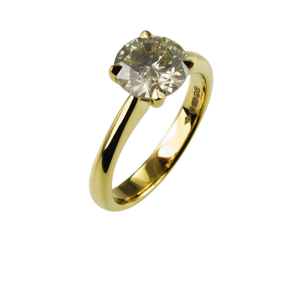 1.13ct Champagne Coloured Diamond Engagement Ring
