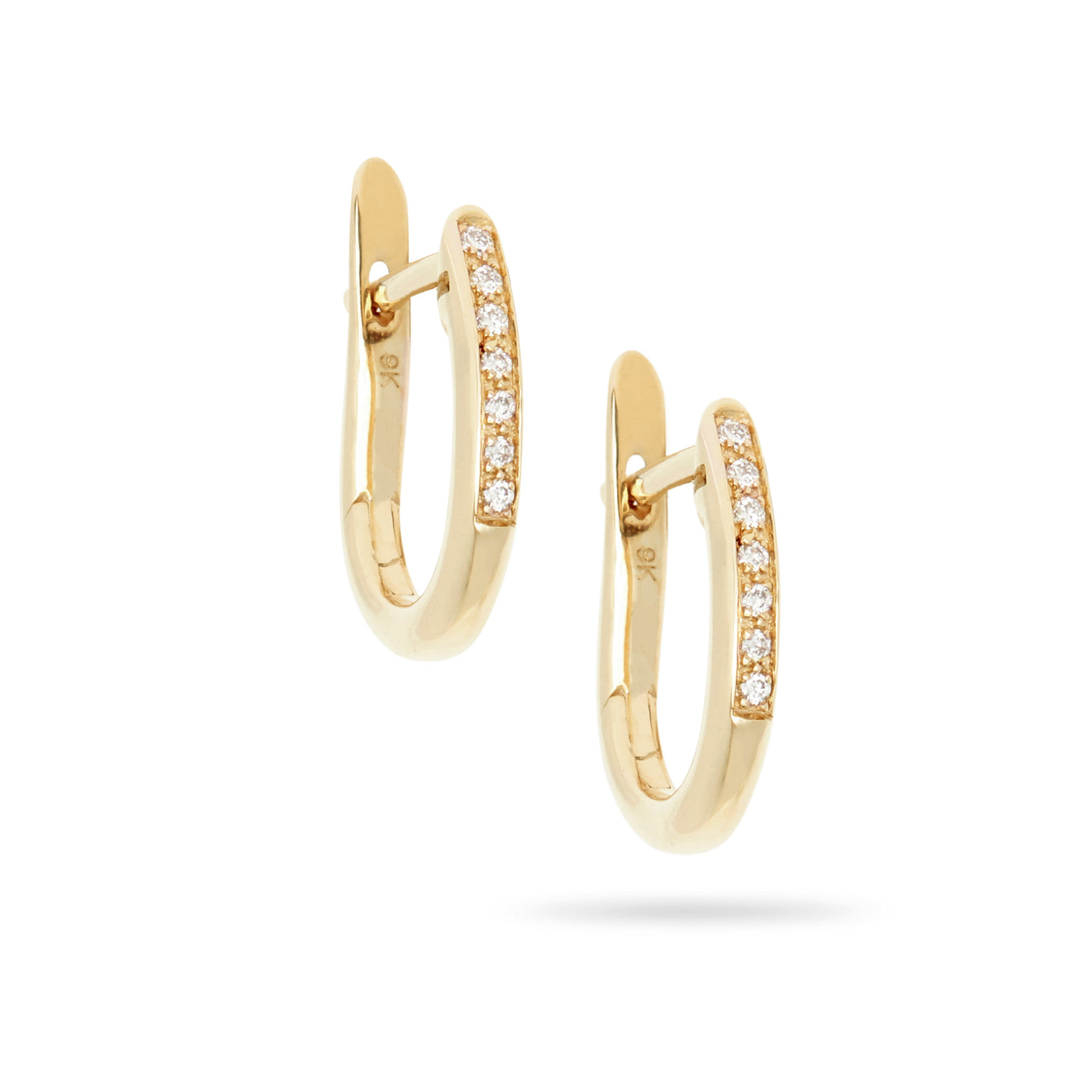 Diamond Set Hinged Hoop Earrings