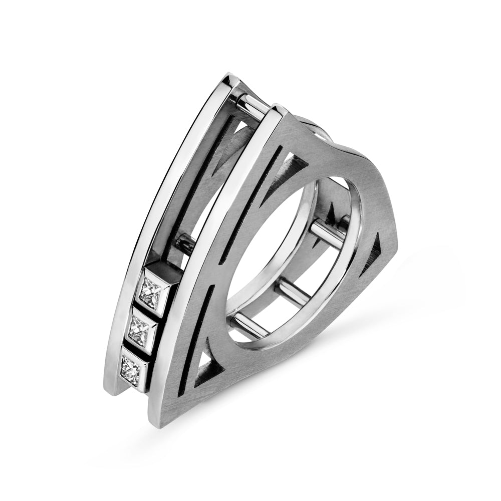 Unique Slide Ring by Luke Rose