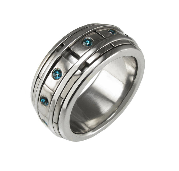 Gents Double Rail REVOLVER Ring