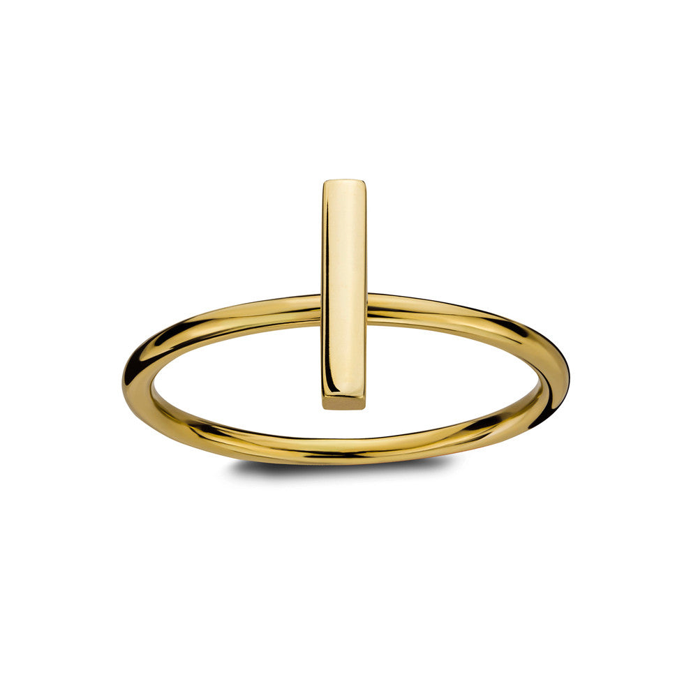 ELEMENTS Static Bar Ring Yellow Gold