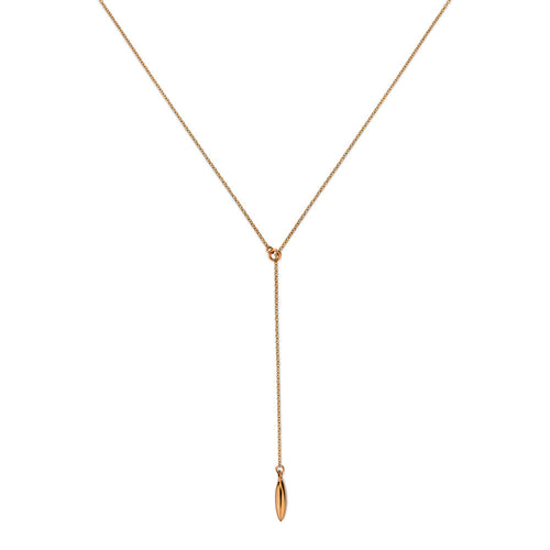 ELEMENTS Form Lariat Necklace Rose Gold