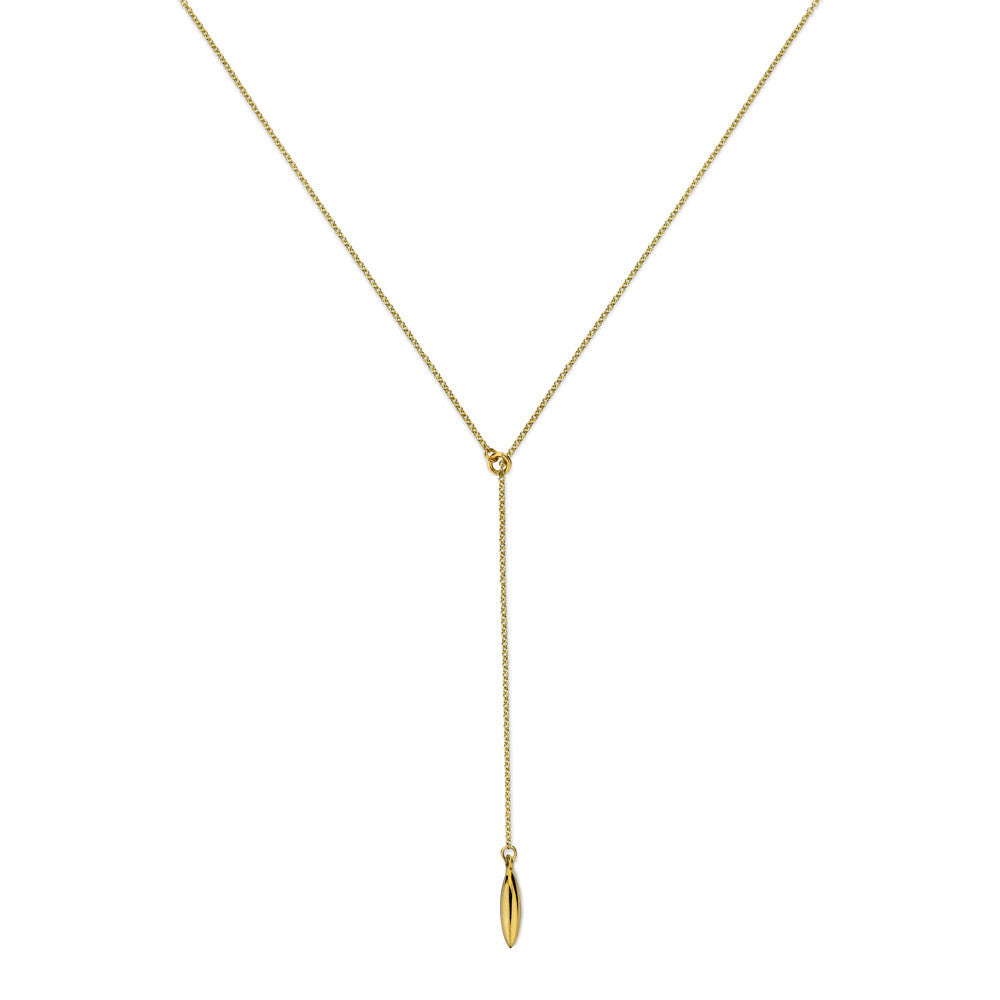 ELEMENTS Form Lariat Necklace Yellow Gold