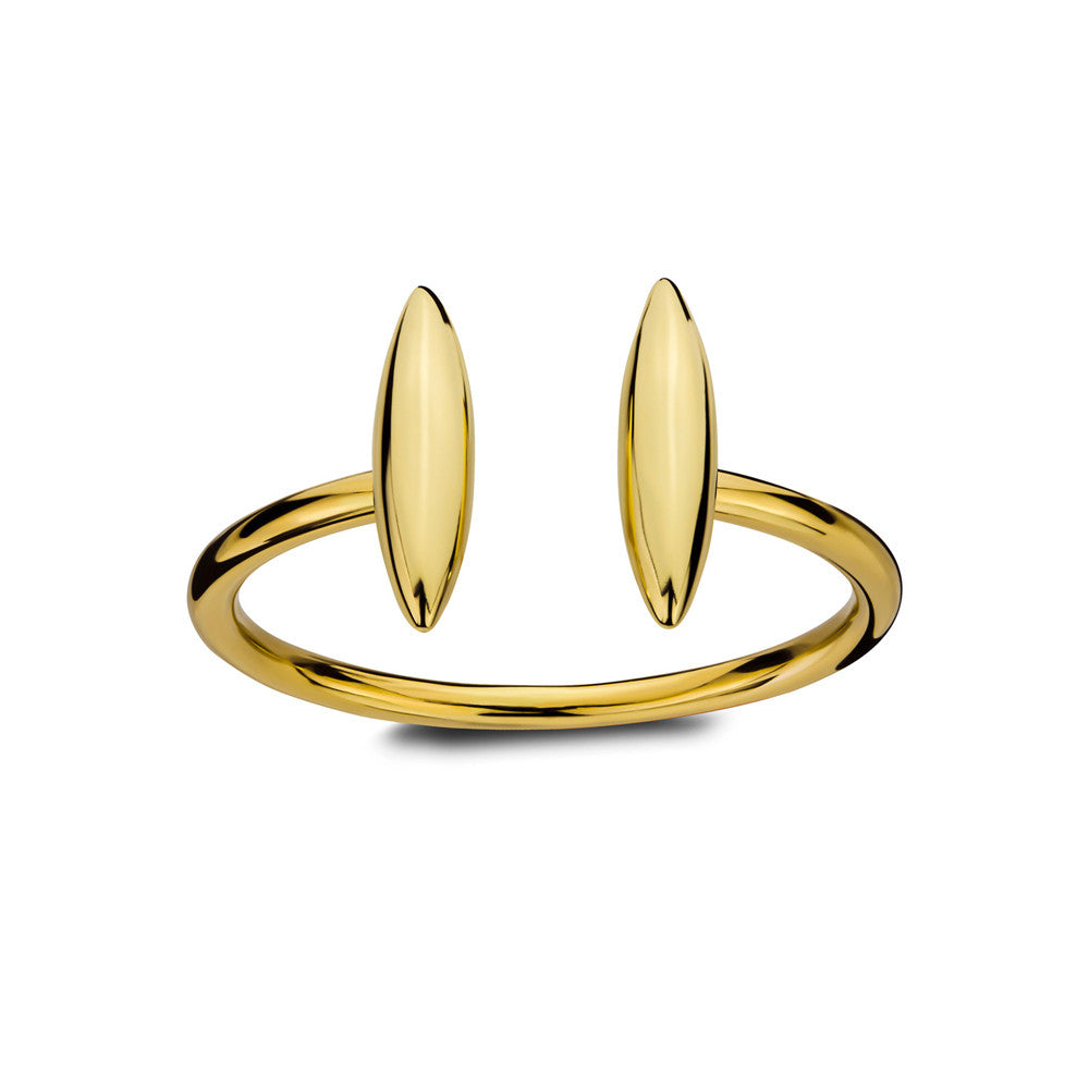 ELEMENTS Double Form Open Ring Yellow Gold