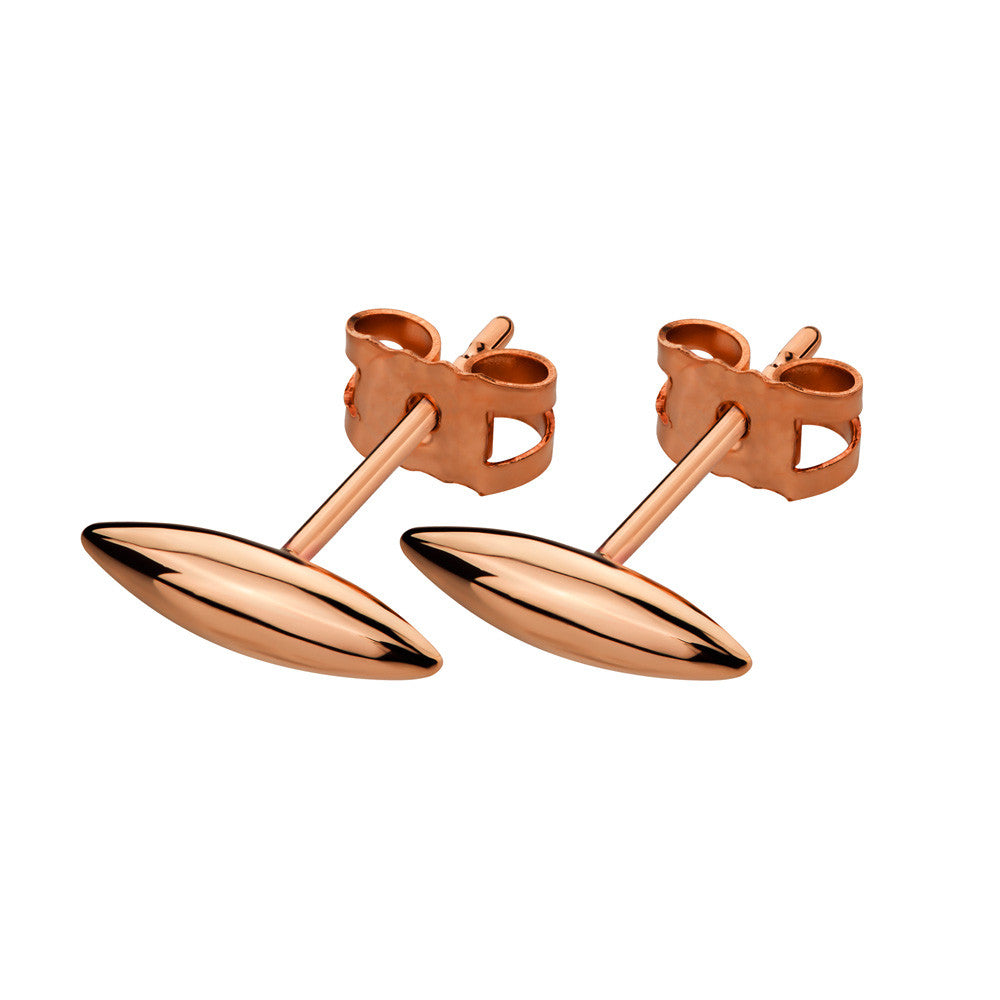 ELEMENTS Form Stud Earrings Rose Gold