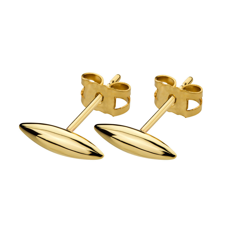 ELEMENTS Form Stud Earrings Yellow Gold
