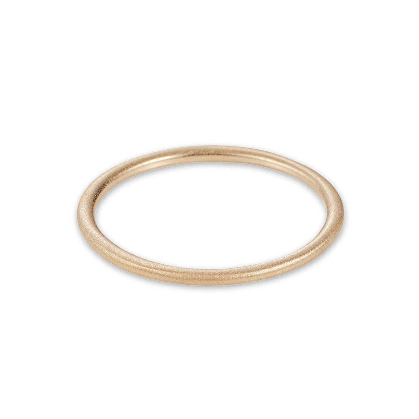 Luke Rose Jewellery brushed gold halo stack ring
