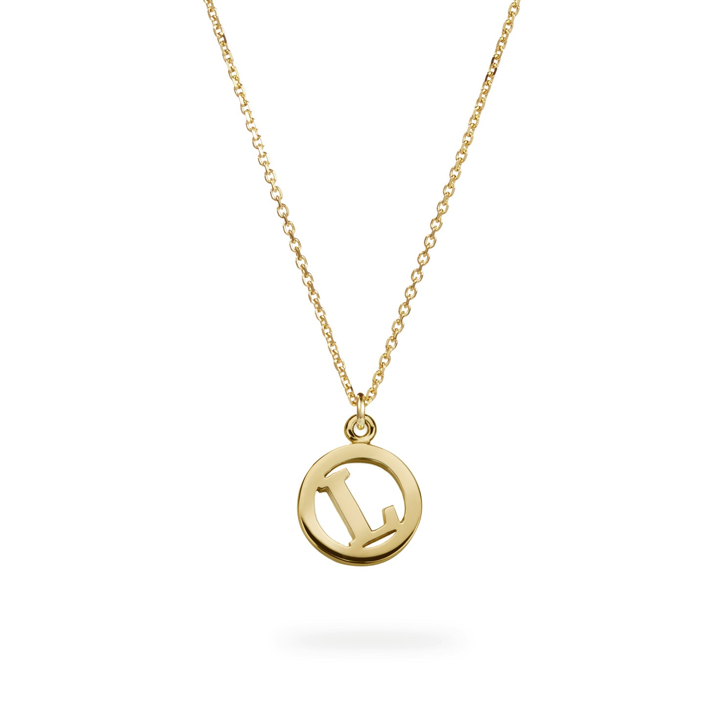Luke Rose Jewellery me and my gold initial necklace