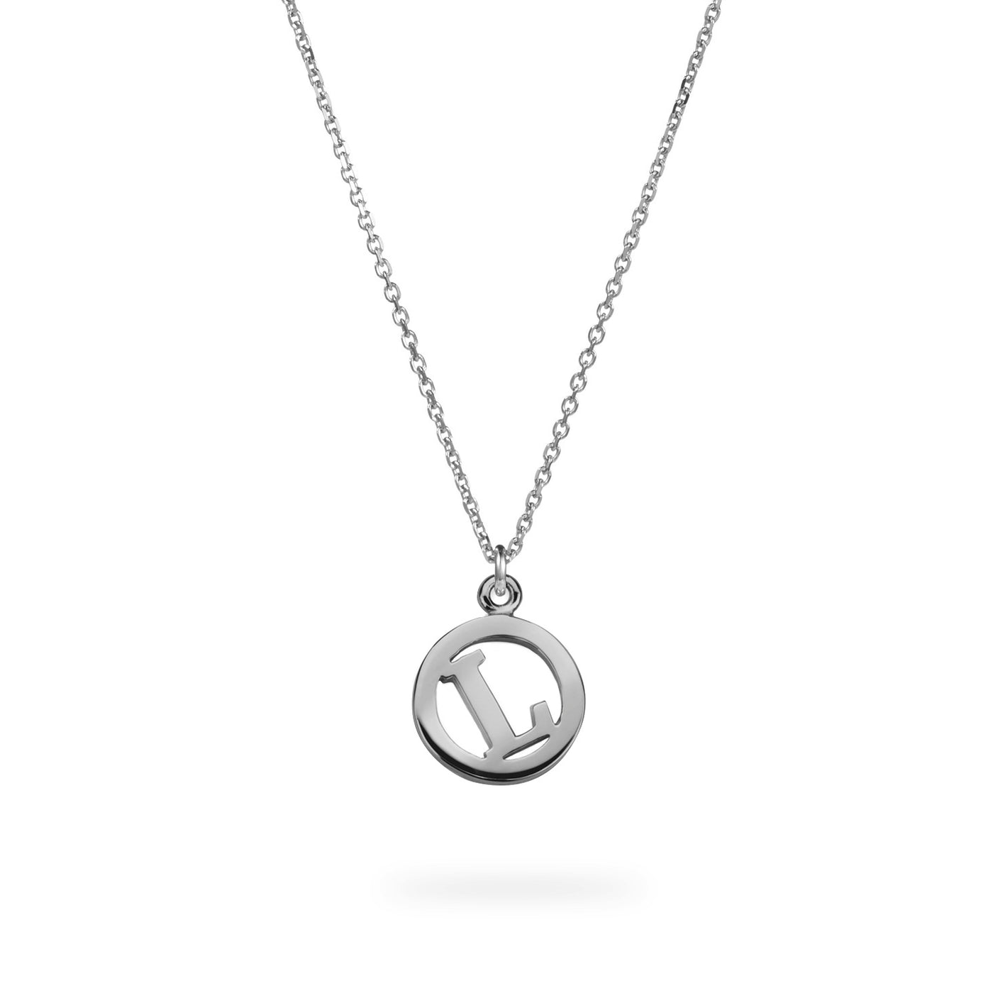 Luke Rose Jewellery silver me and my initial necklace