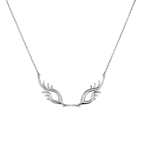 BLINK Large Bright Eyes Necklace Rhodium