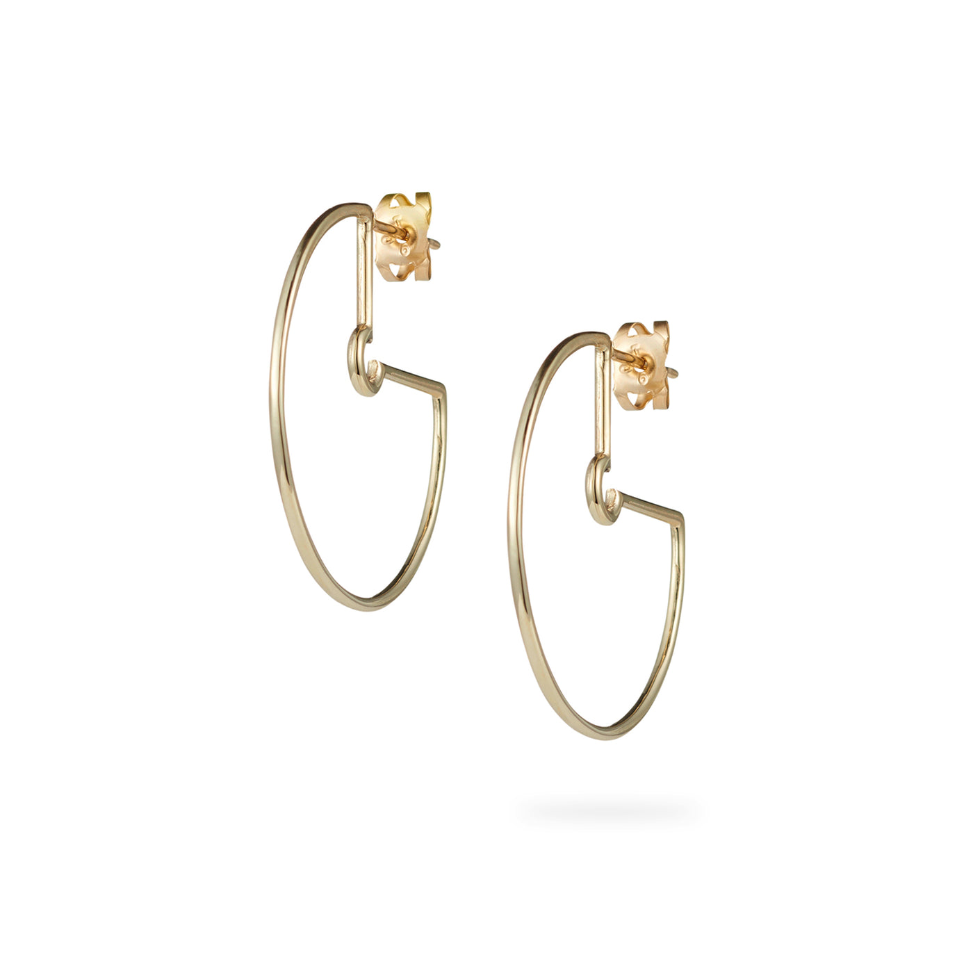 Luke Rose Jewellery Large Gold Hoop Earrings