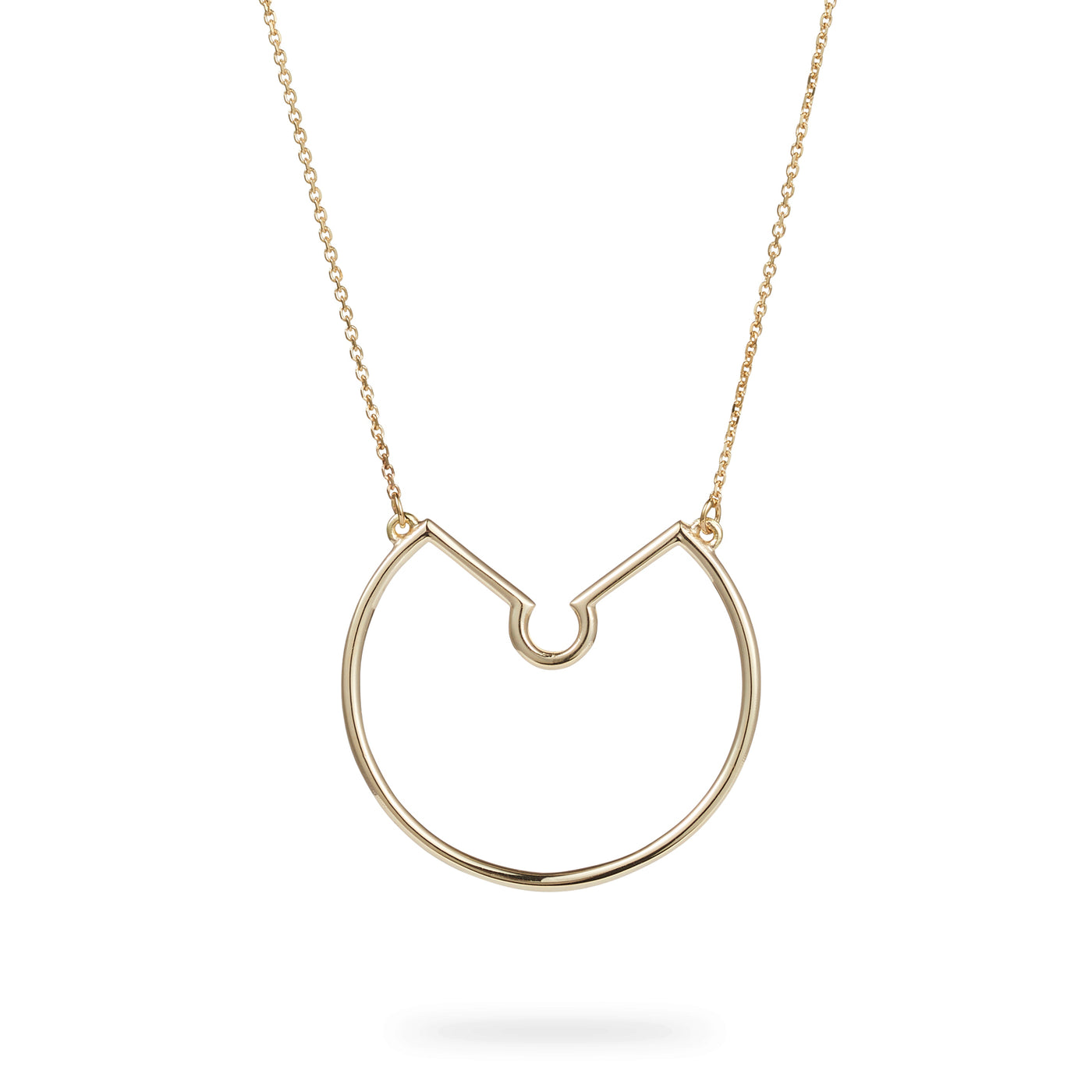 Luke Rose Jewelelry rock collection gold hoop necklace