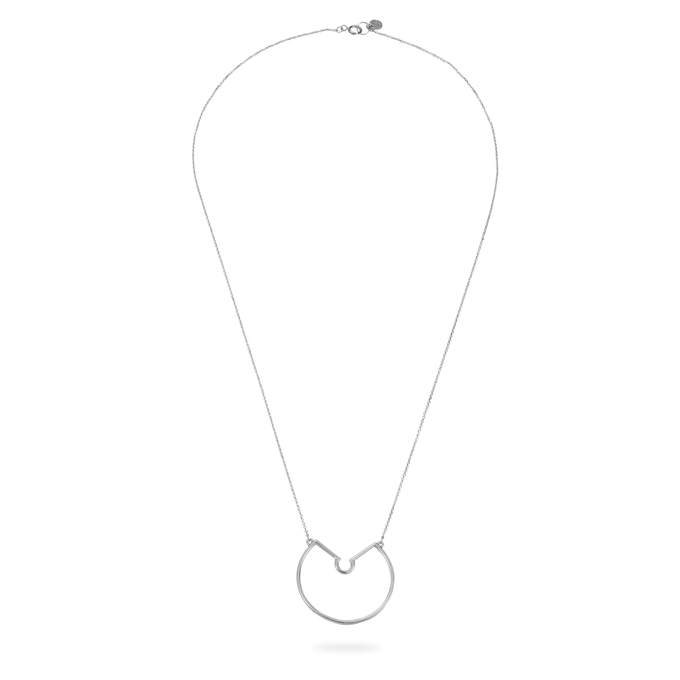 Luke Rose Jewellery rock collection silver hoop necklace
