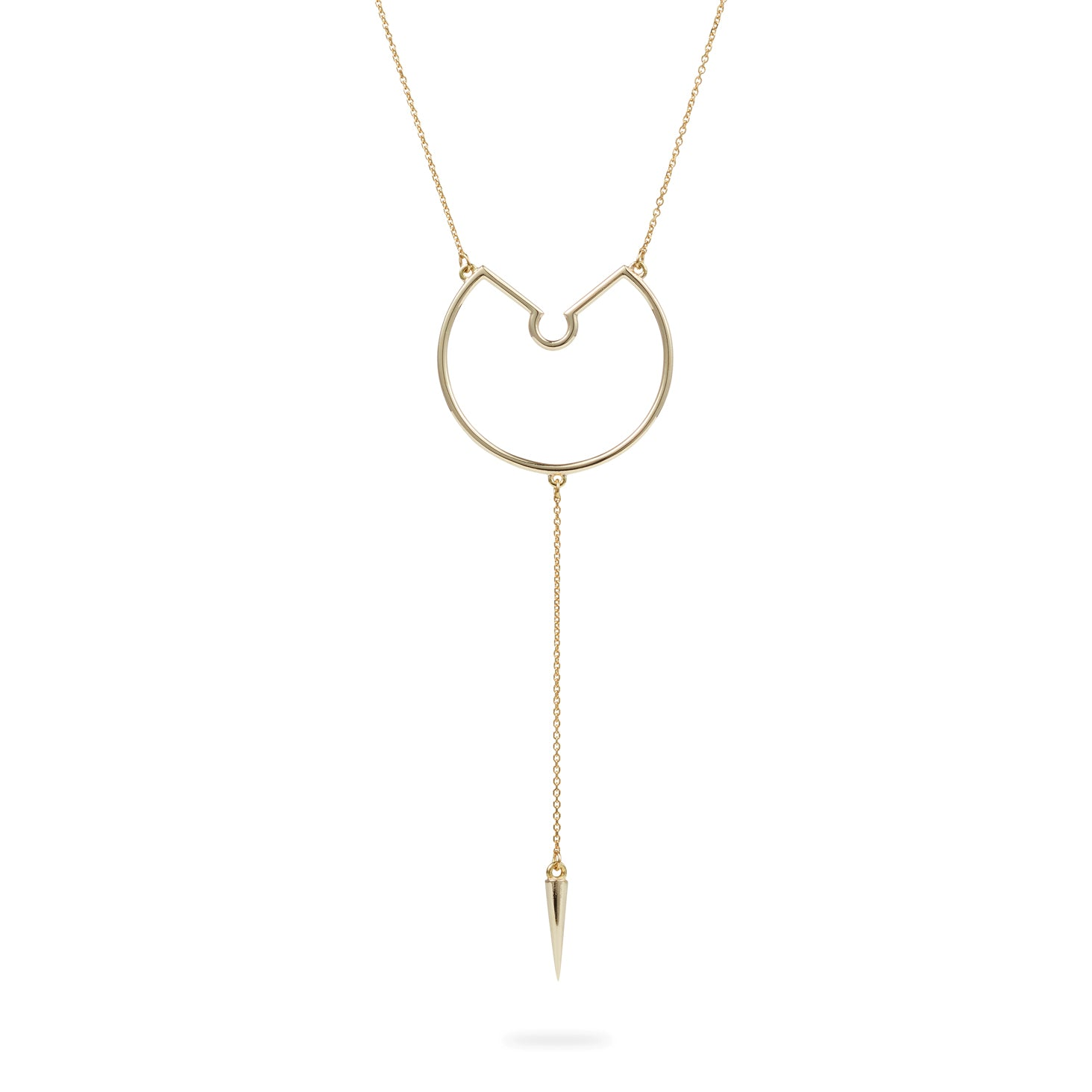 Luke Rose Jewelelry Rock Collection gold drop necklace