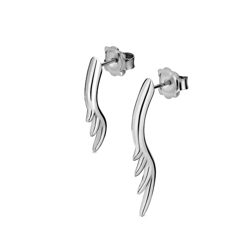 BLINK Long Lashes Asymmetric Stud Earrings Rhodium