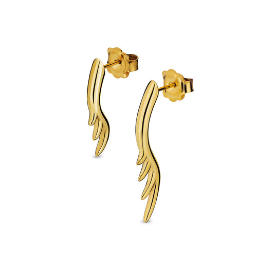 BLINK Long Lashes Asymmetric Stud Earrings Gold