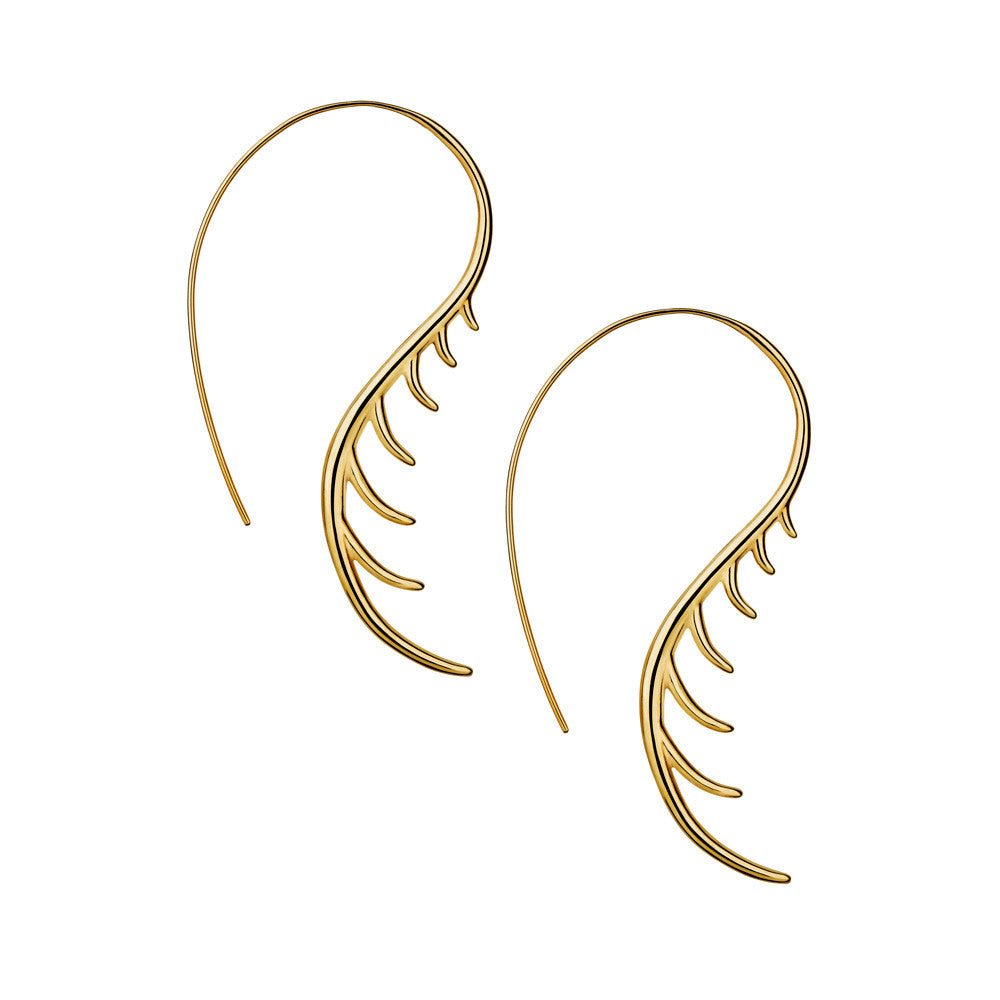 BLINK Long Lashes Curved Earrings Gold
