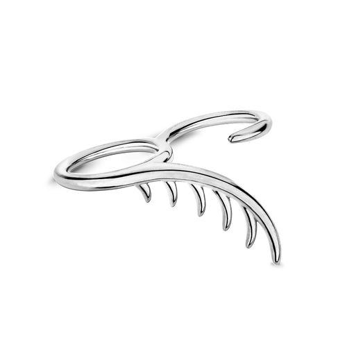 BLINK Long Lashes Double Ring Rhodium