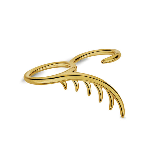BLINK Long Lashes Double Ring Gold