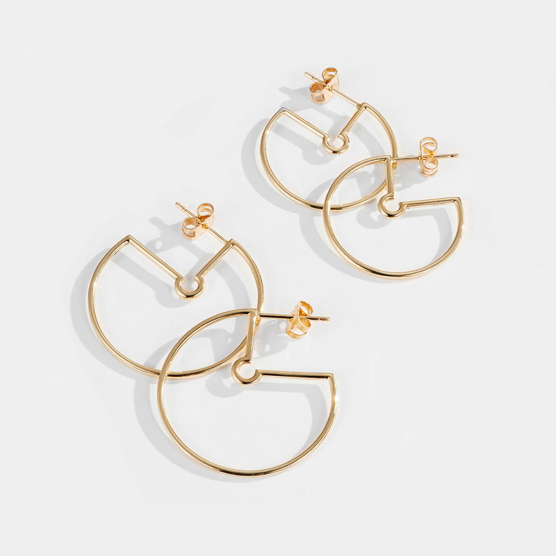 Luke Rose Jewellery Rock Collection Gold Hoop Earrings
