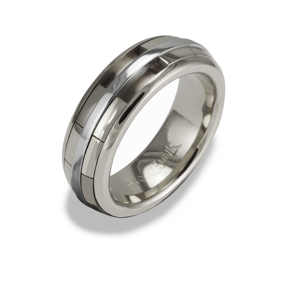 Ladies REVOLVER Ring in 18ct  White Gold