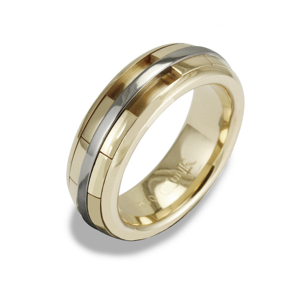 Ladies REVOLVER Ring in 9ct Yellow Gold