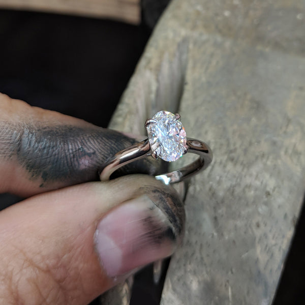 Bespoke 1ct Oval Cut Diamond Engagement Ring