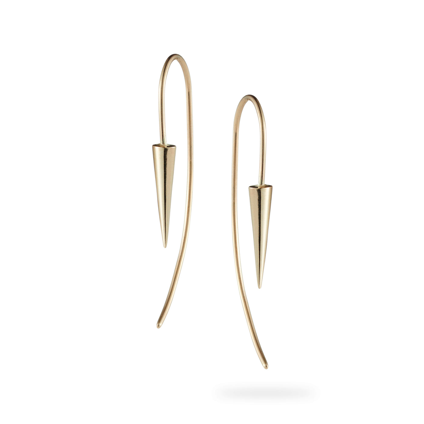 Luke Rose Jewellery Pendulum Ear Wires Yellow Gold