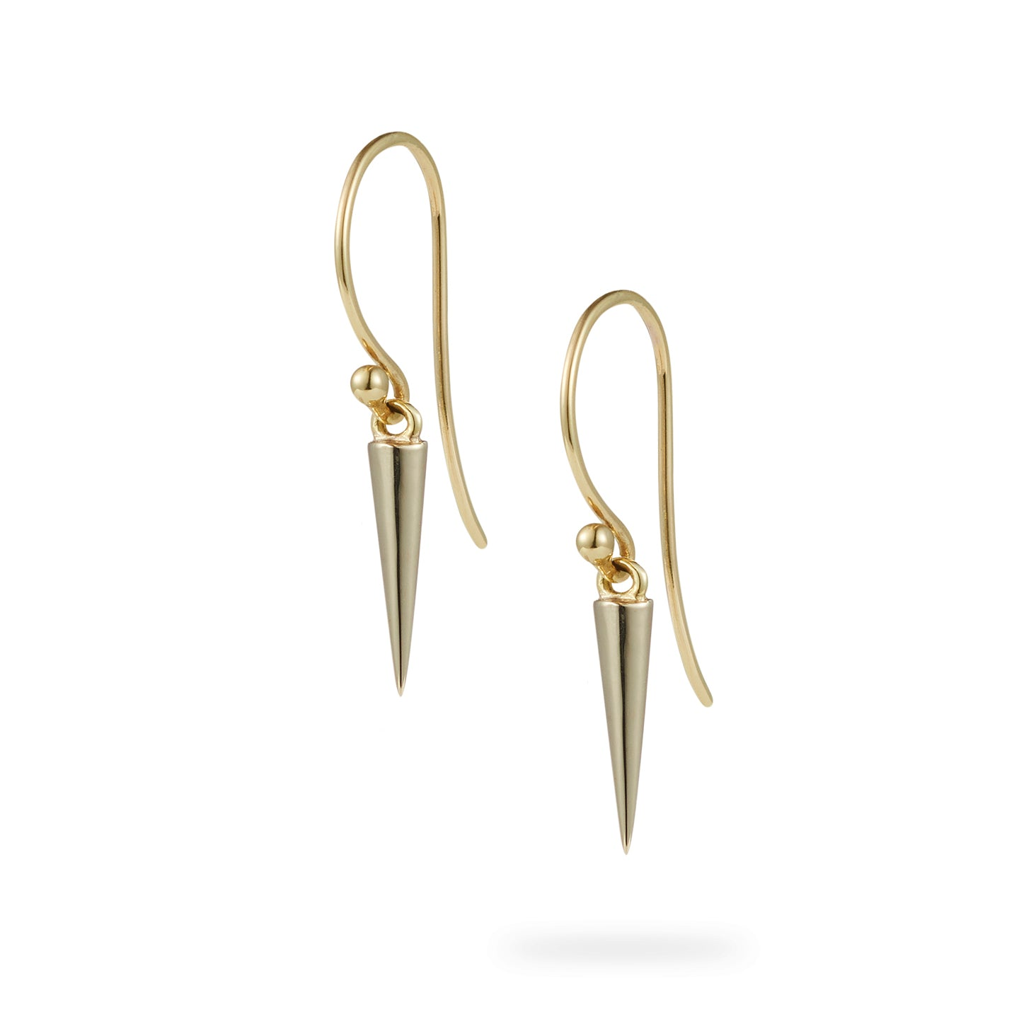 Luke Rose Jewellery gold pendulum hook earrings