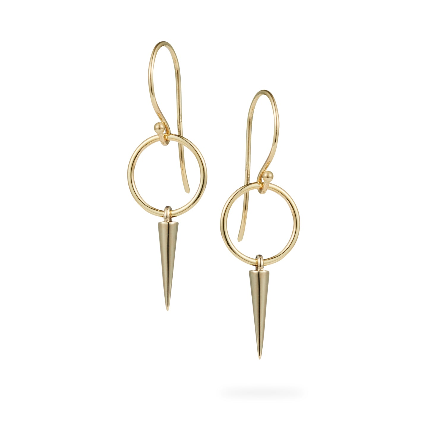 Luke Rose Jewellery gold hooped hook earrings
