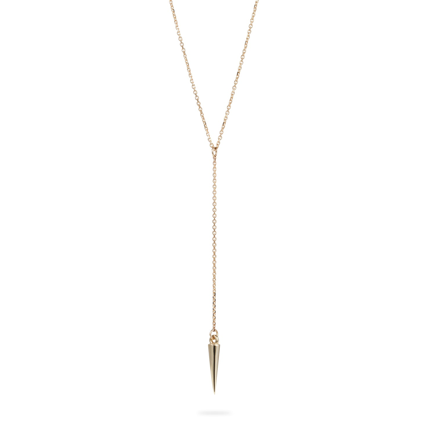 Luke Rose Jewellery Gold Pendulum Lariat Necklace